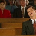 Dormindo na igreja